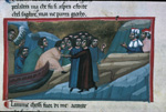 The souls disembark; Casella approaches Dante